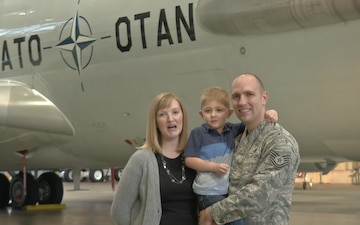 Tech. Sgt. Falk and Family