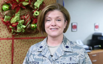 Lt. Col. Stacey Van Orden holiday greeting