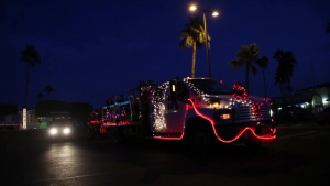 Christmas Caroling Golf Cart Parade