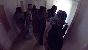 Military operations in urban terrain training at Al Asad.