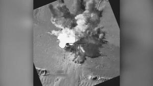 Coalition airstrike destroys a Da'esh pump jack near Abu Kamal, Syria