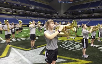 Army Field Band Commander Conducts All-American Marching Band