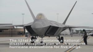 F-22s depart Rickenbacker