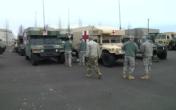 141 BRIGADE SUPPORT BATTALION PREPS FOR SNOW STORM