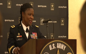 B-Roll of BG Donna Martin Hosting the Mom's Panel at the 2017 Army All-American Bowl