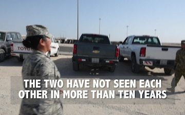 Deployed brother, sister reunite after 10 years apart