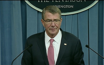 Carter, Pentagon Press Secretary Brief Media on Counter-ISIL Campaign