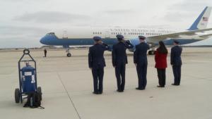 President-Elect Donald Trump Lands at JBA