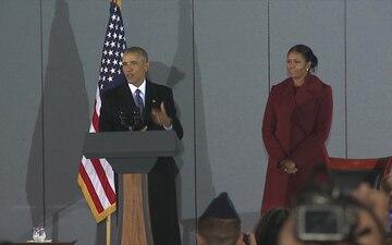 Former President Barack Obama's Final Departure