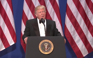 President Trump Talks to Troops in Afghanistan at the SAS Ball