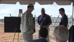 Eglin AFB EUL Team Installs First Solar Panel