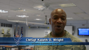 Air Force Report: Command Chief Visits JROTC