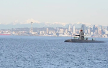 USS Olympia Arrives in the Pacific Northwest