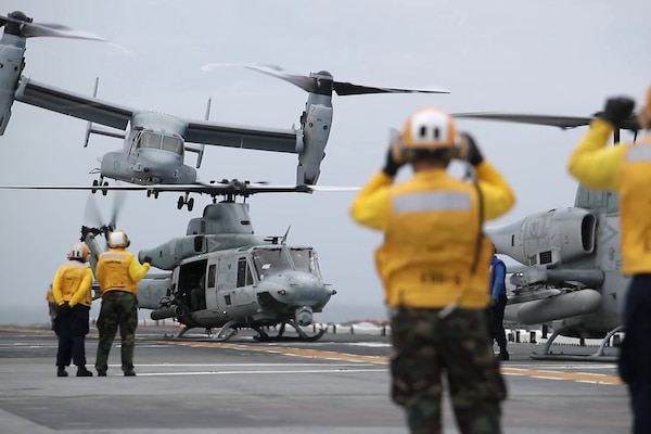 Watch these sailors and Marines work in concert to conduct flight ops