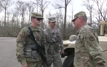 Louisiana National Guard Adjutant General visits Guardsmen supporting the tornado response