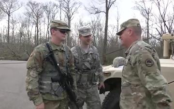 Louisiana National Guard Adjutant General visits Guardsmen supporting the tornado response