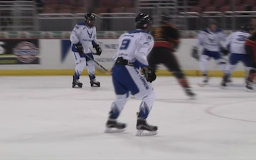 Military Service Members and Veterans Play Ice Hockey for Charity