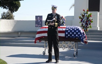 Fort Rosecrans Memorial Service for Rear. Adm. (Ret.) Richard Lyon