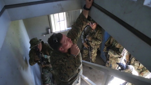 In the House: 1st Recon and Japanese Soldiers Share Close Quarter Tactics