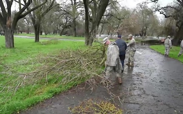 California National Guard Assists with Flooding at State Parks