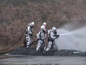 Personnel on Marine Corps Air Station Iwakuni train to ensure readiness in case of emergency (Package/Pkg)