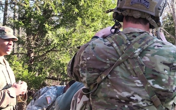 Arkansas National Guard Best Warrior Competition - Ruck March and Army Warrior Tasks (B-Roll)