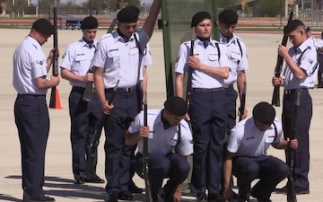 Sheppard AFB Drill Team at Lackland AFB Drill Down Competition
