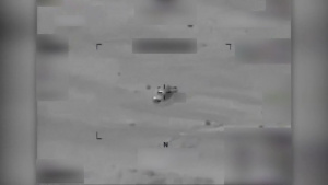 Coalition Airstrike Destroys an ISIS Vehicle Near Palmyra, Syria