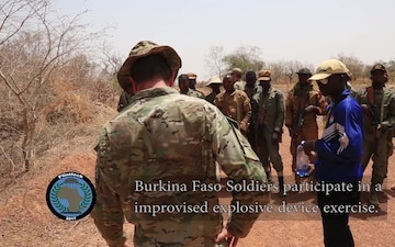 Counter-Improvised Explosive Device training in Burkina Faso during Flintlock 2017
