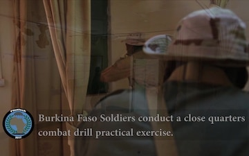 Close quarter combat training in Burkina Faso during Flintlock 2017