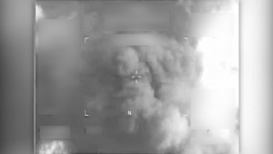 Coalition airstrike destroys an ISIS VBIED near Mosul, Iraq.