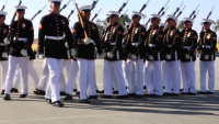 Battle Colors Detachment preforms at Marine Corps Recruit Depot San Diego