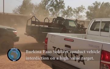 Flintlock17 Vehicle Interdiction Training in Burkina Faso