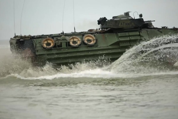 Watch U.S., Romanian Marines storm the beach during Spring Storm 2017