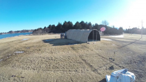23 CBCS Airmen build tent in support of ARCTIC CARE 2017