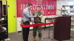 A FIRST OF ITS KIND INNOVATION LAB OPENS AT THE CAMP FOSTER LIBRARY.