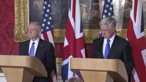 Mattis, British Counterpart Conduct News Conference in London