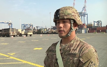 497th CSSB Arrives In Europe, SPG Gimae Mesina Interview
