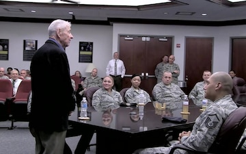 Retired CMSAF Gaylor Visits AFMISC
