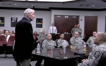 Retired CMSAF Gaylor Visits AFMISC (No Lower 3rds)