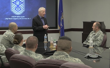 Retired CMSAF Gaylor Visits AFMISC B-Roll