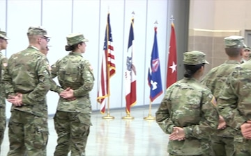 Maj. Gen. Tim Orr Resurrects the Heritage of Patching Ceremony to the Iowa National Guard
