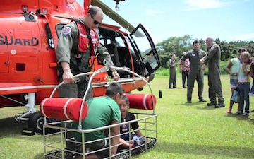 Coast Guard attends Career Day at Hana High and Elementary School