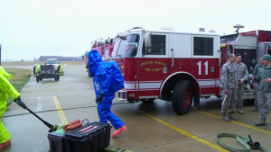 Kunsan Airmen Conduct HAZMAT Training