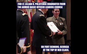 2nd Lt. Lillian Polatchek Makes History