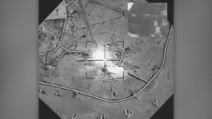 Coalition airstrike destroys an ISIS bunker near Palmyra, Syria