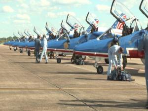 2017 Maxwell AFB Air Show-Patrouille de France Arrival - Stringer 1