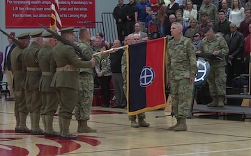 35th Infantry Division departure ceremony VOSOT