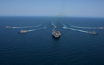 ROK and U.S. Navy ships underway in the western Pacific Ocean