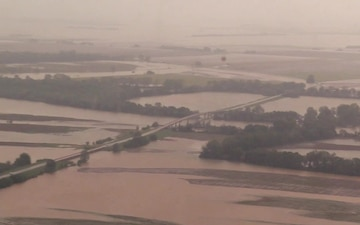 Flyover Of Flooded Portions Of Arkansas And Director Of Military Support Visits With Assisting Agencies